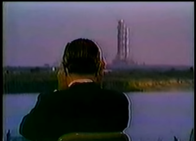 Walter Cronkite watches Apollo 8. (CBS)